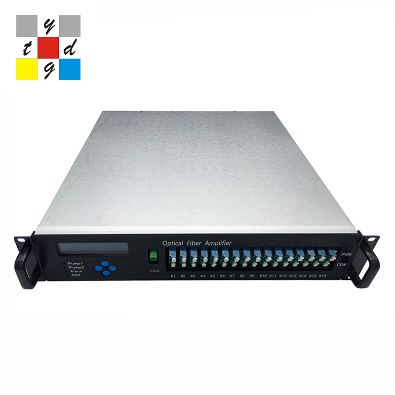 32 port 23 dbm EDFA with wdm dual power /JDSU pump /SNMP