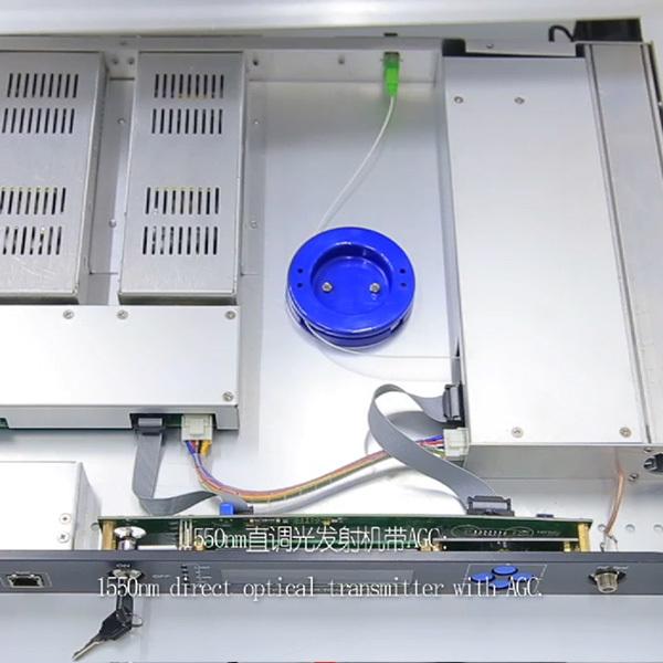 Manufacturer 1310nm &1550nm optical transmitter dual power supply